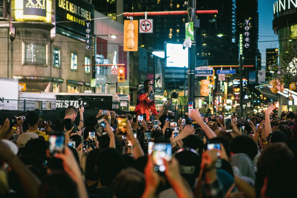 Toronto's Jazz Cartier headlined Friday, June 15 at NXNE's Yonge Street Festival Village. Other acts that night included: Azalea Banks. U.S. Girls, Cadence Weapon and more.