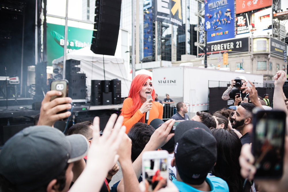 Lights was one of NXNE's 2018 Yonge Street Festival Village highlights when she played Saturday, June 16.