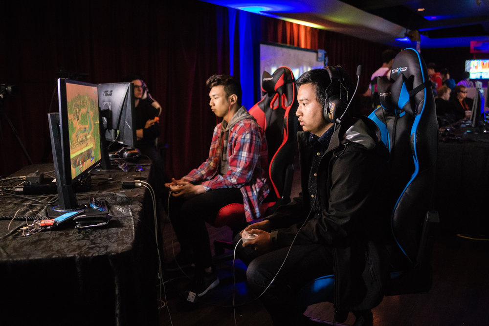 NXNE Game Land, featuring eSports and Gaming kicks off the 10 day NXNE Festival every June.  The first weekend of NXNE sees professional and amateur gamers face off in high stakes tournaments featuring live play and an online broadcast on NXNE's Twitch Channel.  NXNE Game Land in 2018 ran June 8 -10 with live competition at Toronto's Concert hall, 888 Yonge. Game Land 2019 kicks off with a kick ass Launch Party, Friday June 7 followed by two days of full on eSports, Saturday June 8 and Sunday, June 9. See all the action at Toronto's Great Hall (1087 Queen Street West). or on-line on NXNE Twitch channel. NXNE Game Land in 2018 ran June 8 -10 with live competition at Toronto's Concert hall, 888 Yonge.