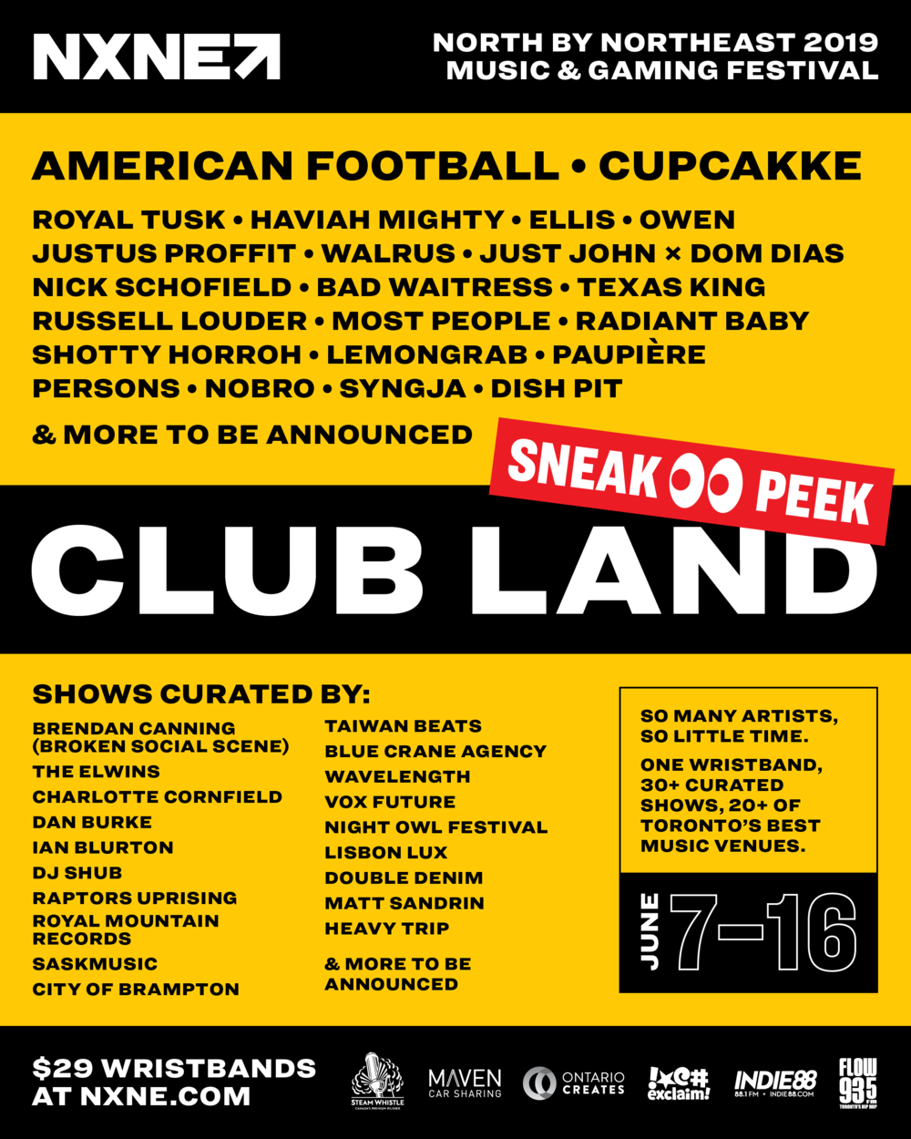 NXNE Club Land Sneak Peek