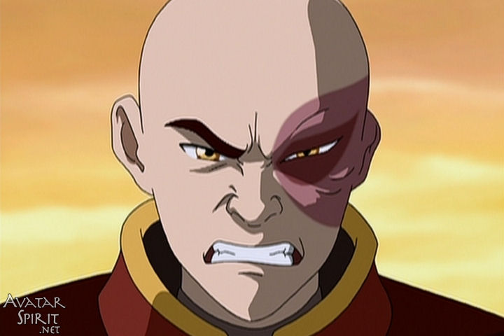 An image of Zuko from Avatar the Last Airbender glaring at the screen. Boy looks constipated. Maybe they were went for each other after all.