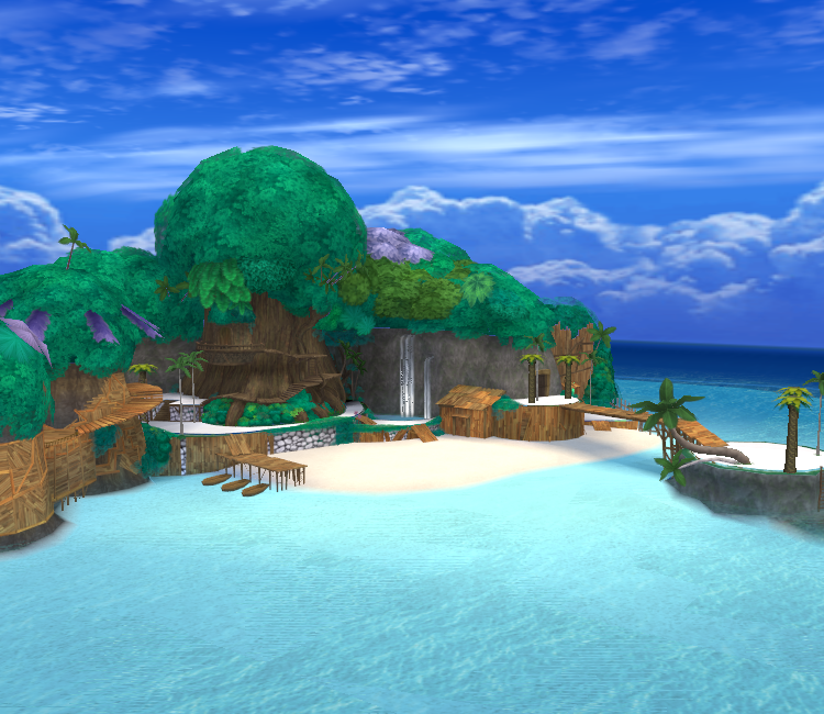 An image of Destiny Islands from the first Kingdom Hearts game. Obviously not included as a reference to anything.