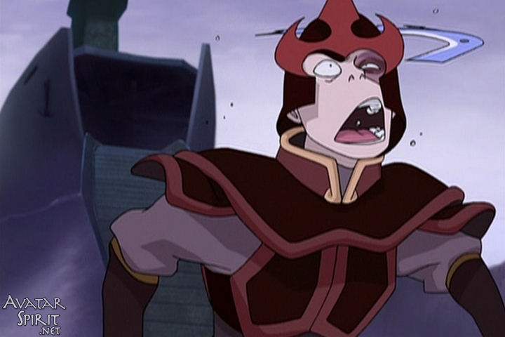 An image of Zuko from Avatar: The Last Airbender getting bonked in the head with Sokka's boomerang. Possibly the greatest piece of artwork ever drawn.