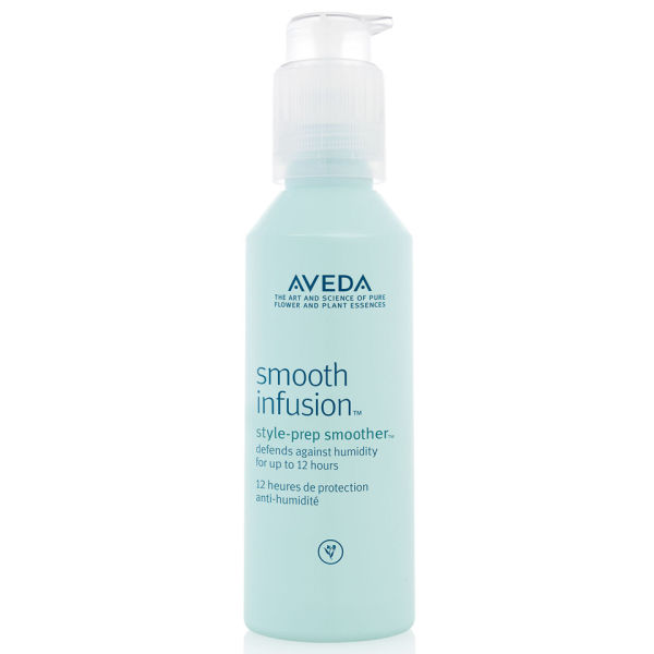 Hey frizz fighter, you singing the holiday blues this season? Add this to your bathroom styling station and stay Frizz Free with  Smooth Infusion Style-Prep.  This magical bottle helps prevent frizz and protect from heat damage. Now if this wasn't made with magic in Santa's workshop… Add a small amount to damp hair, layer with Smooth Infusion Nourishing Crème and that combo will seal in moisture and show off soft movement and shine. Movement + Shine = that's a romantic combo for your holiday shindigs!