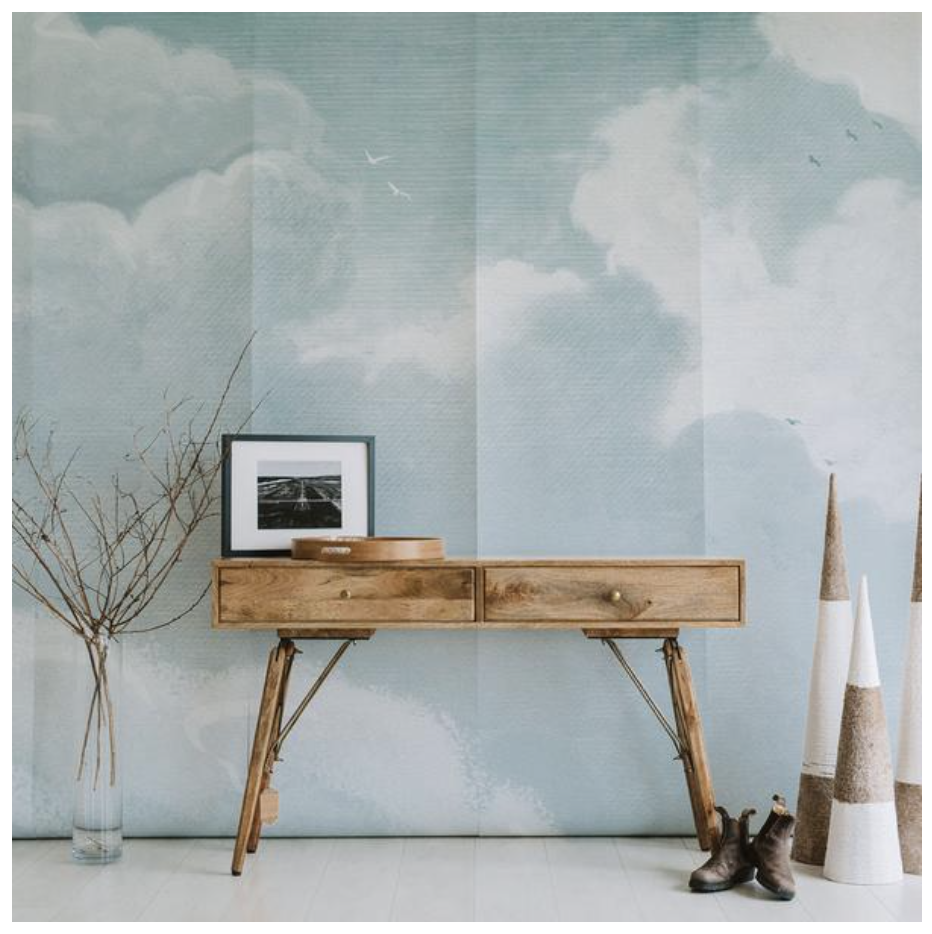 Why not take 'bringing the outdoors, in' to a whole new level with  this gorgeous wallpaper !