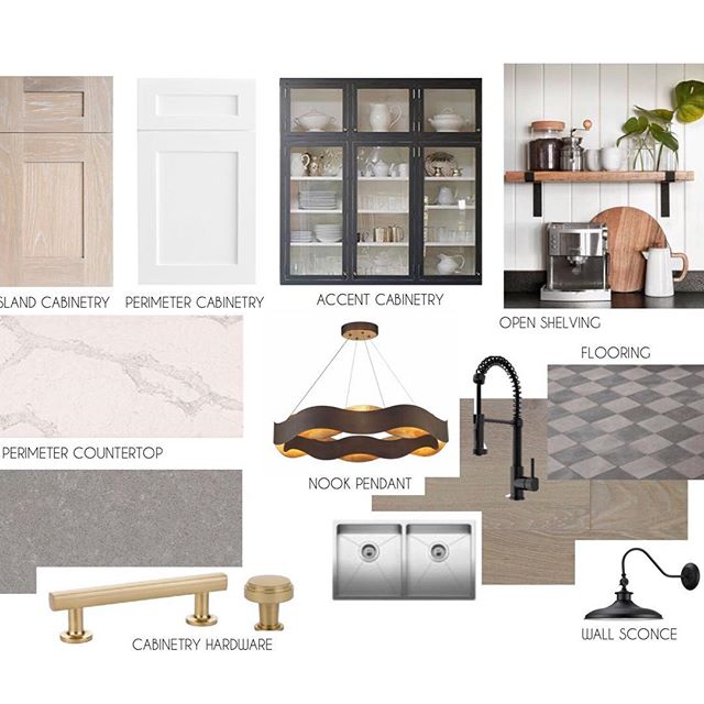 If you haven't heard by now, this week is a big week! We've been waiting to install the Legacy Showhome by @luxuriahomes for MONTHS! (I can't even remember when we started this project...it's been that long!). This is the project's concept board we've been drooling over. We hand selected all of the finishes and paid careful attention to all of the details. We officially start piecing furniture together and styling shelves today...and I couldn't be more excited!! Get ready for non-stop behind the scenes #sorrynotsorry #legacyeuropeanfarmhouse