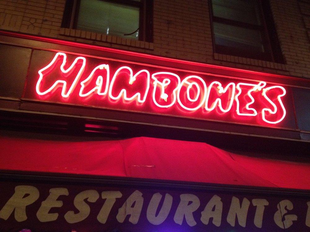 Hambones Showcase Late - Hambones 10PM $5 at the doorFacebookHost: garrett titlebaumdavid sitrick,gab bonesso, arish singh, mary jane french, derek minto, ray zawodni, kevin monroe,connor mcgrath, sean collier, joey welsh, lix greenwood