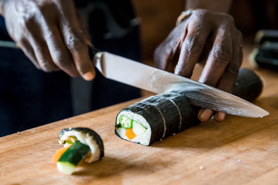 Pierre Making Fonio Sushi III.jpg