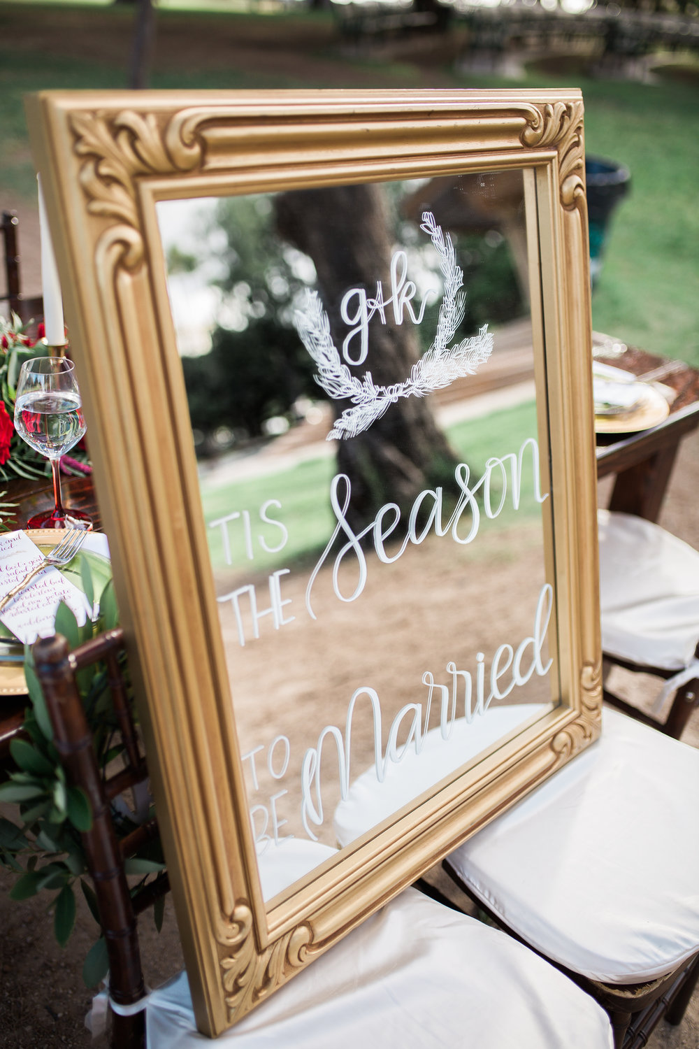 Custom wedding signage-mirror rental