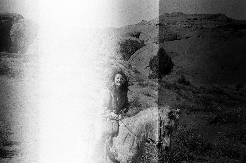riding through navajo lands with my murder-pony, pegasus. smiling because i'm probably thinking about moving to utah tbh. 2018.