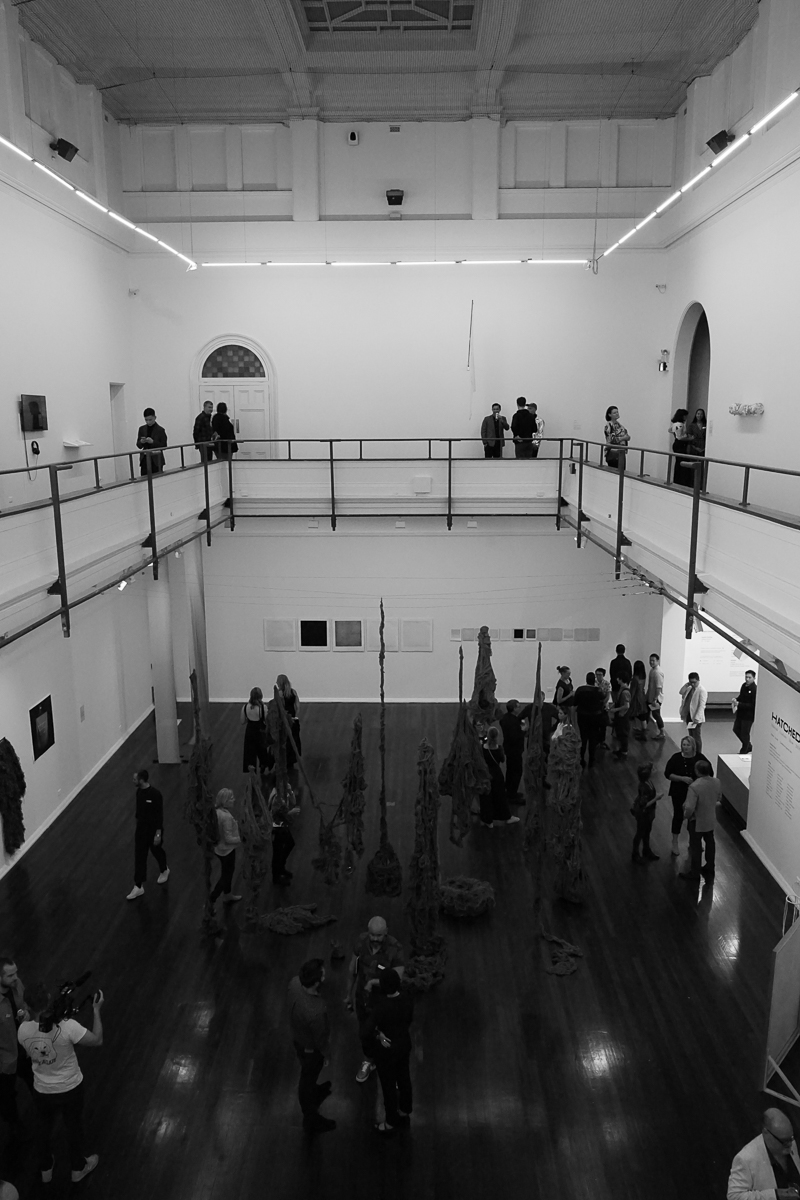 vip viewers enter the pica space before the official opening. Image: the social pages.