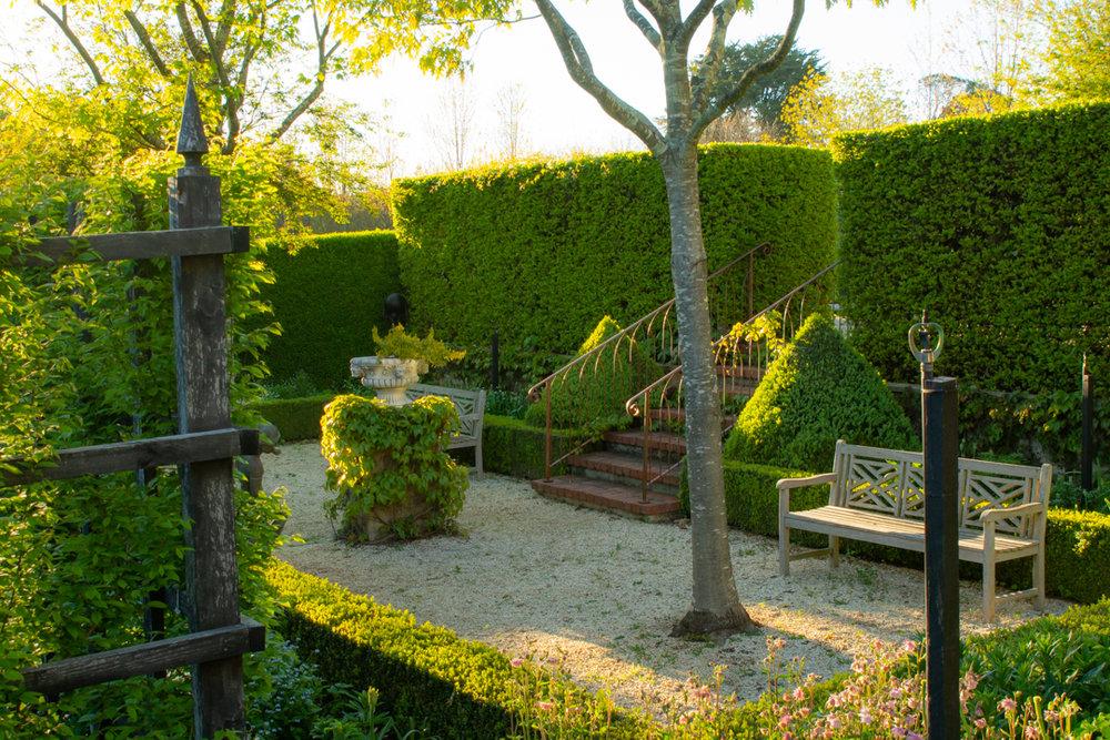 The Pembroke garden room in late spring.