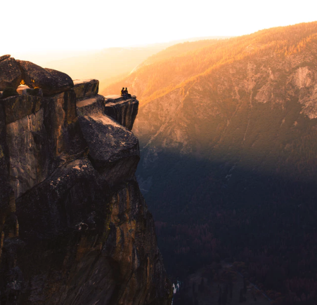Golden hour, yosemite, cliffside and people.png