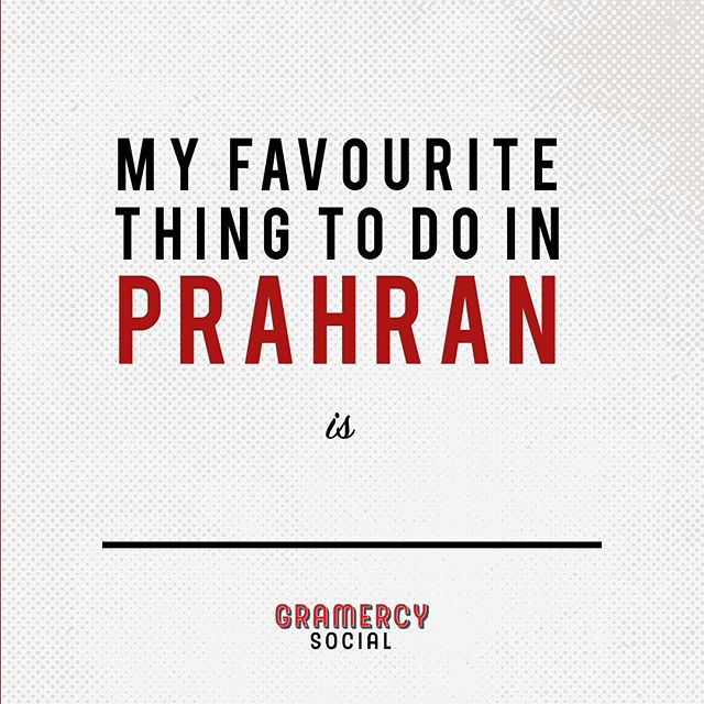 ✍🏻Fill in the blank👇🏻We'd love to hear what your favourite activities are whilst visiting Prahran.