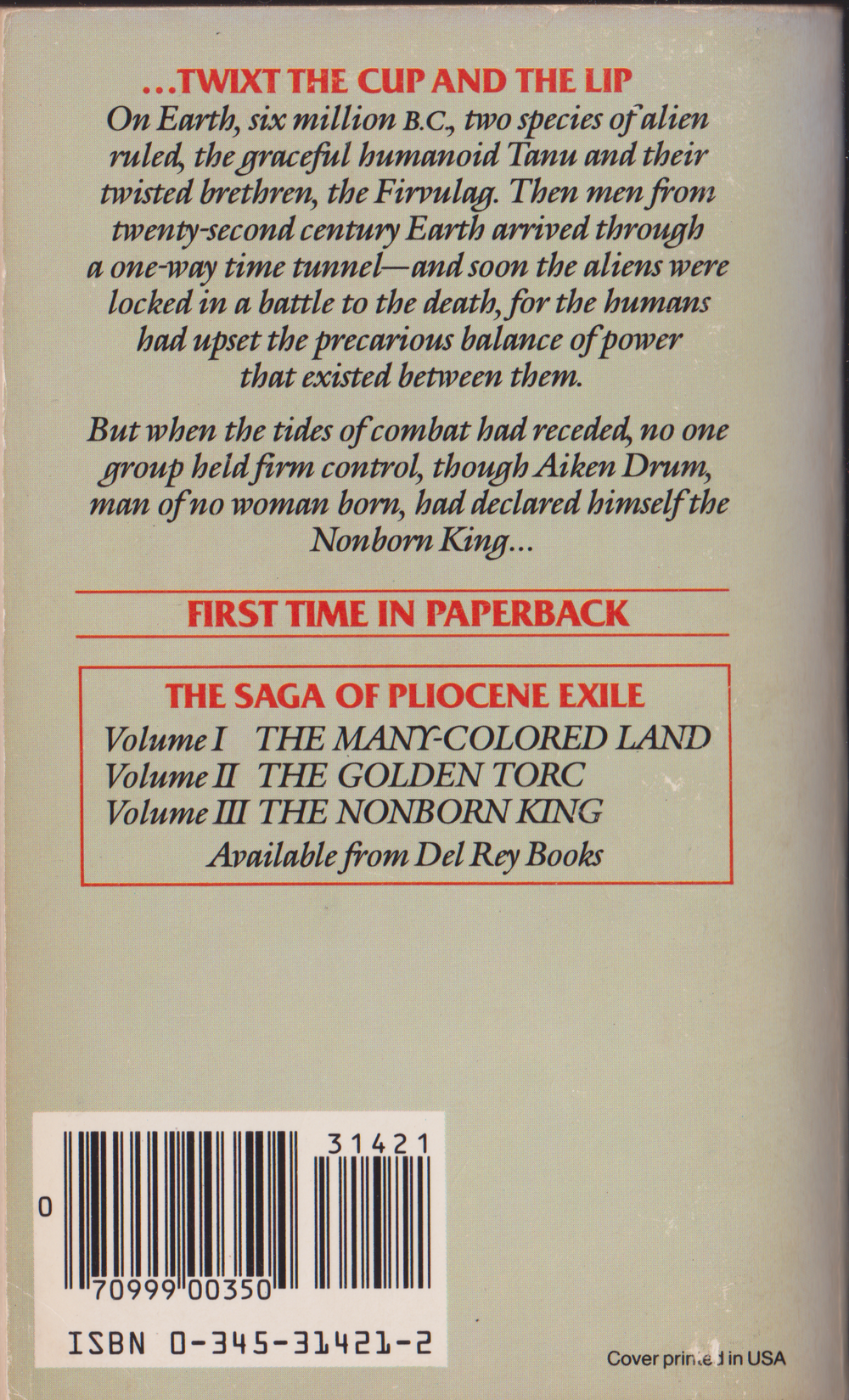 The Nonborn King by Julian May-Back.png