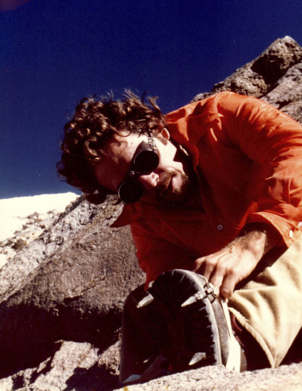 My Dad on Mt. Iota, 1978. Photo by: Mike Trihey