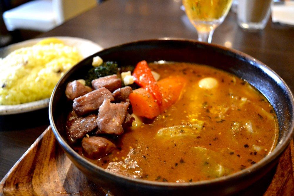 Lamb Soup Curry at Restaurant Garaku Curry