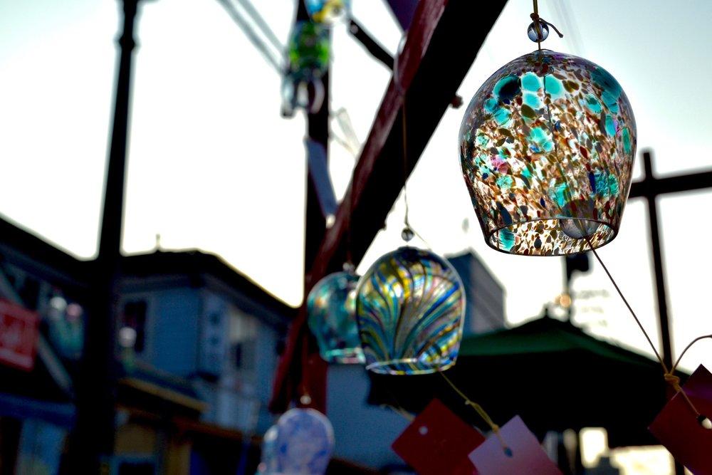 Little hanging glass bells in Otaru
