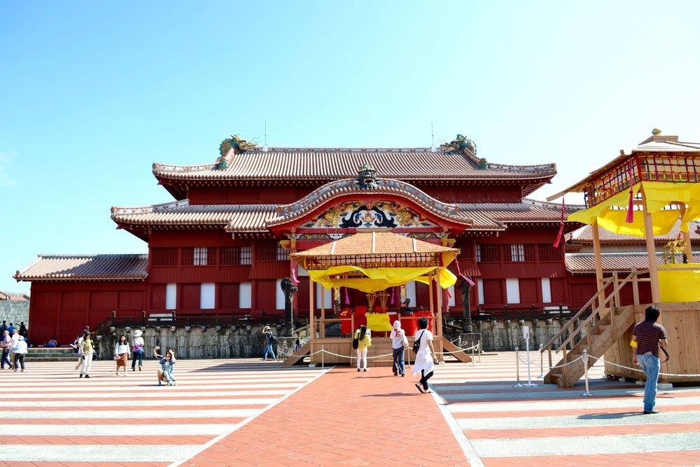 The Seiden (main hall) of Shuri Castle