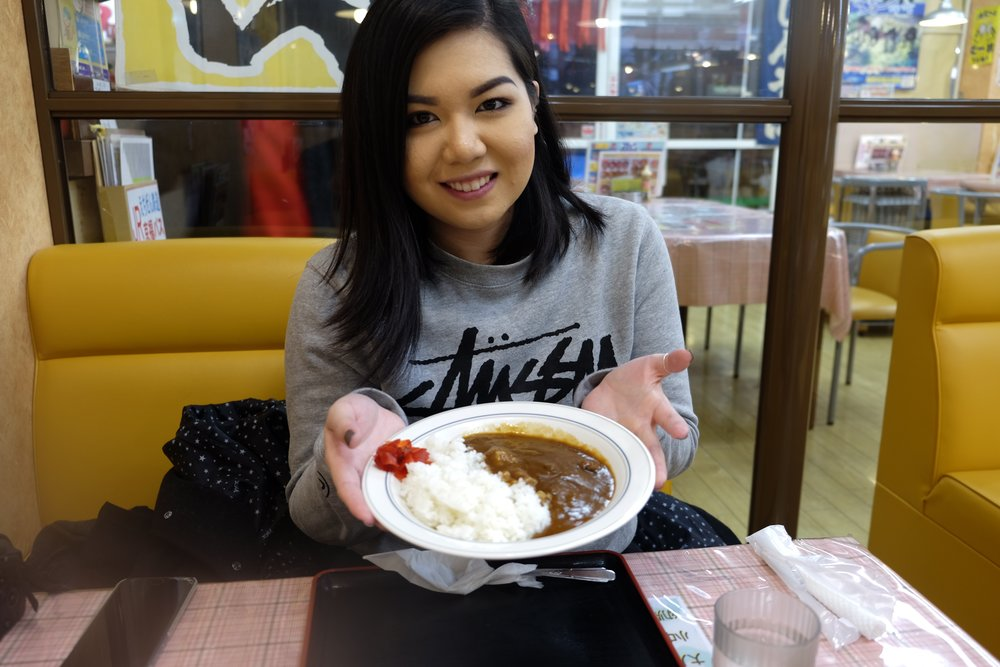 Eating my favorite! Curry!