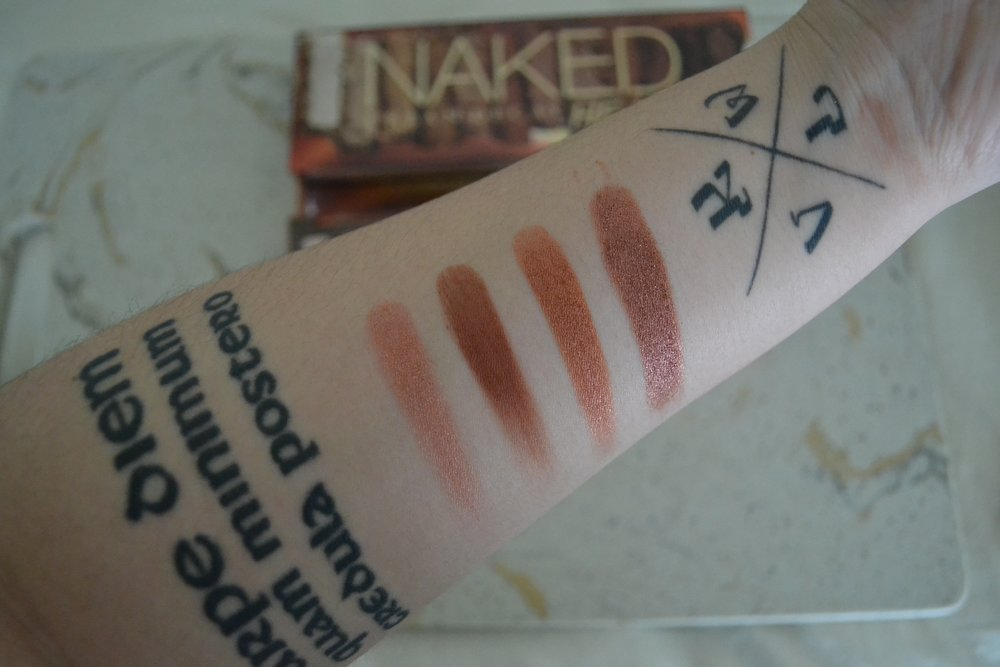 Urban Decay Naked Heat Palette - First Impressions Review and Swatches