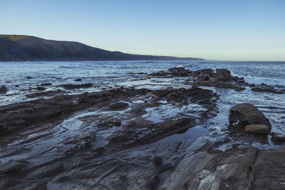 Rock formations at Blanket Bay