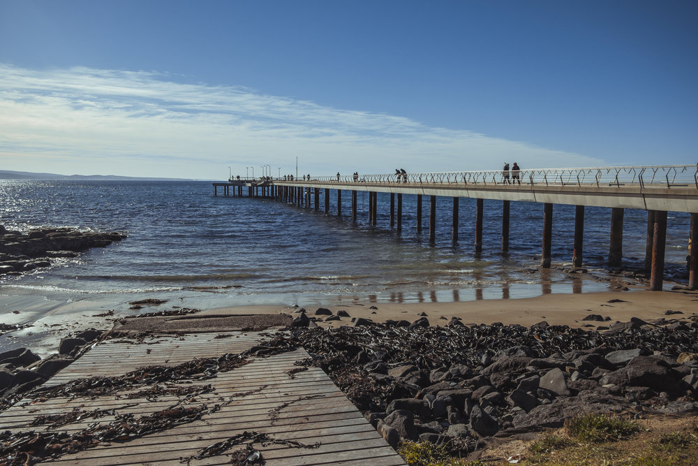 A pier at a stop we made on the way back to Melbourne