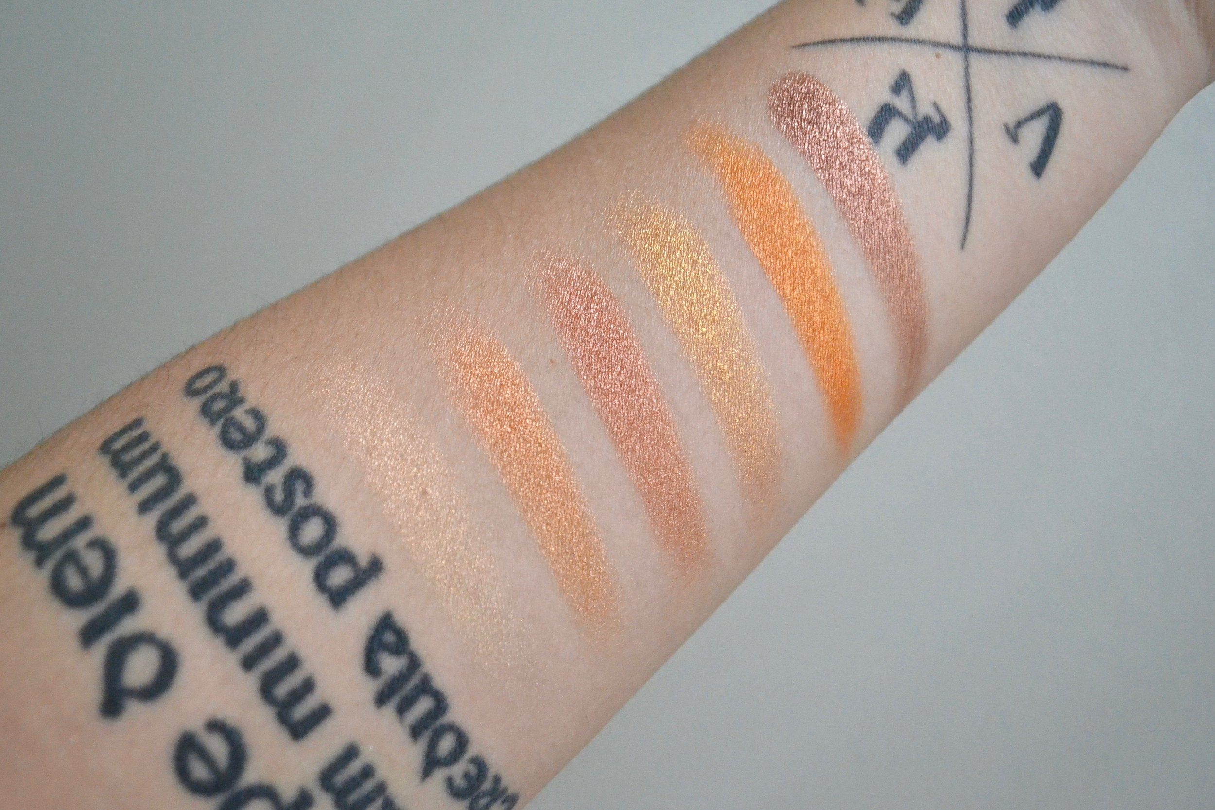 BH Cosmetics Solar Flare Palette - Review and Swatches