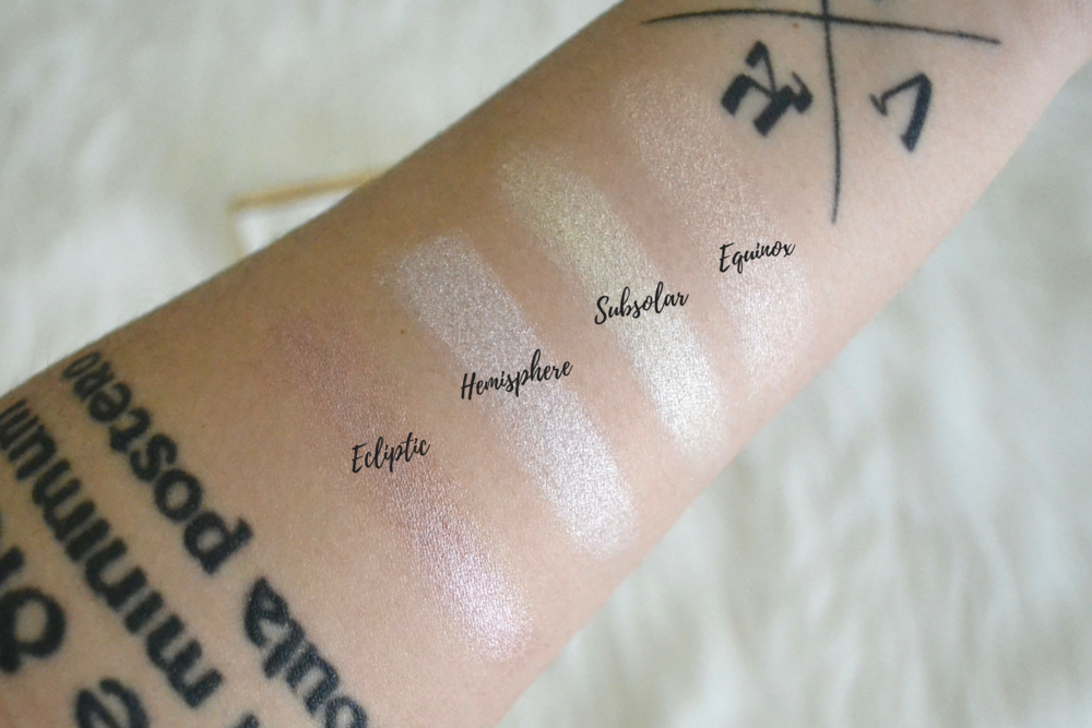 Sleek Makeup Solstice Highlighting Palette Review and Swatches