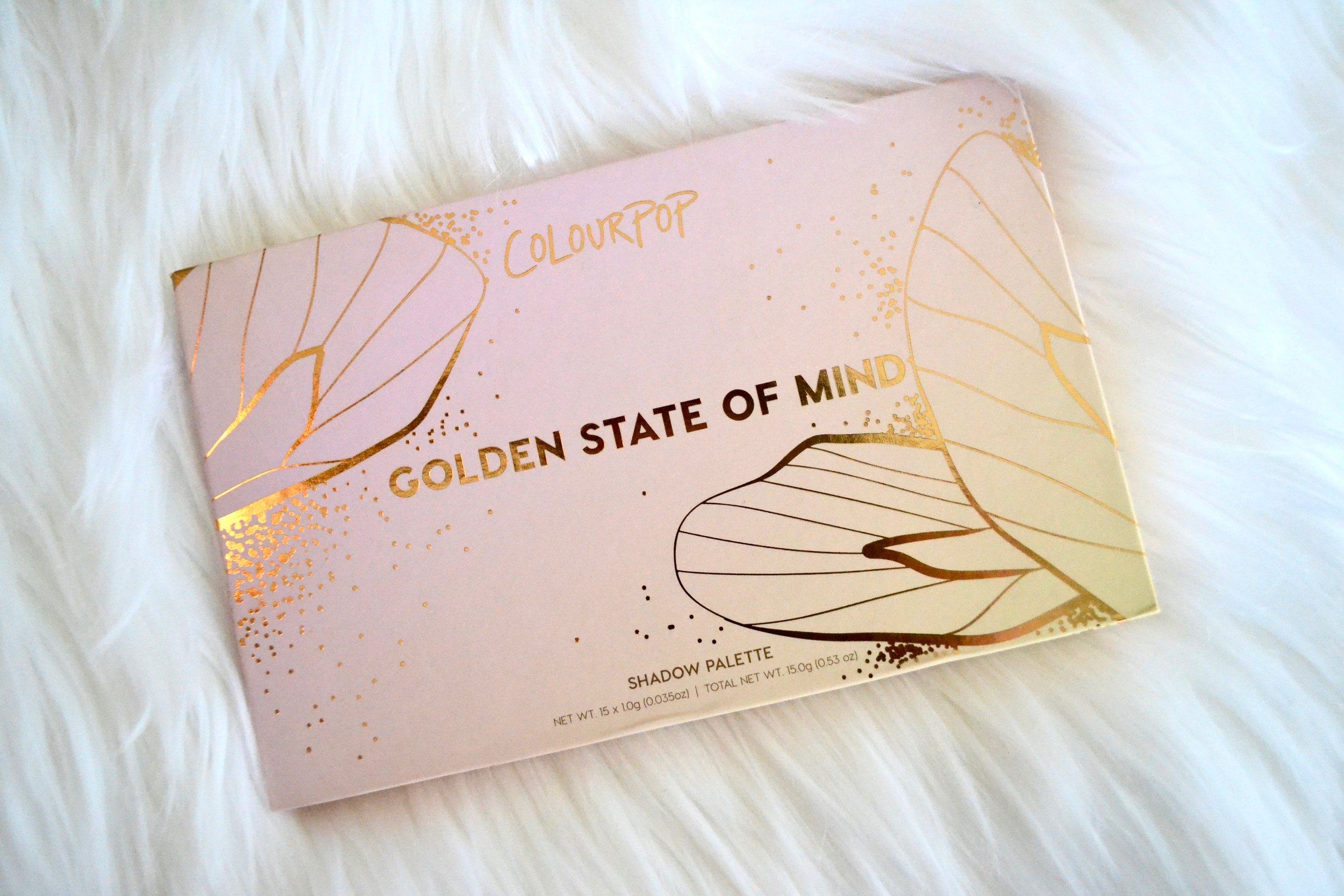 ColourPop Cosmetics Golden State of Mind Palette - Review