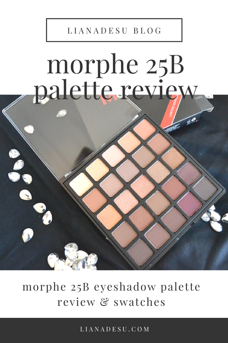 Morphe Brushes 25B Palette - Review and Swatches