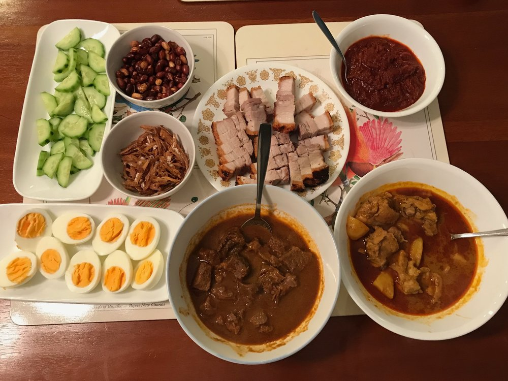 malaysian curry dinner