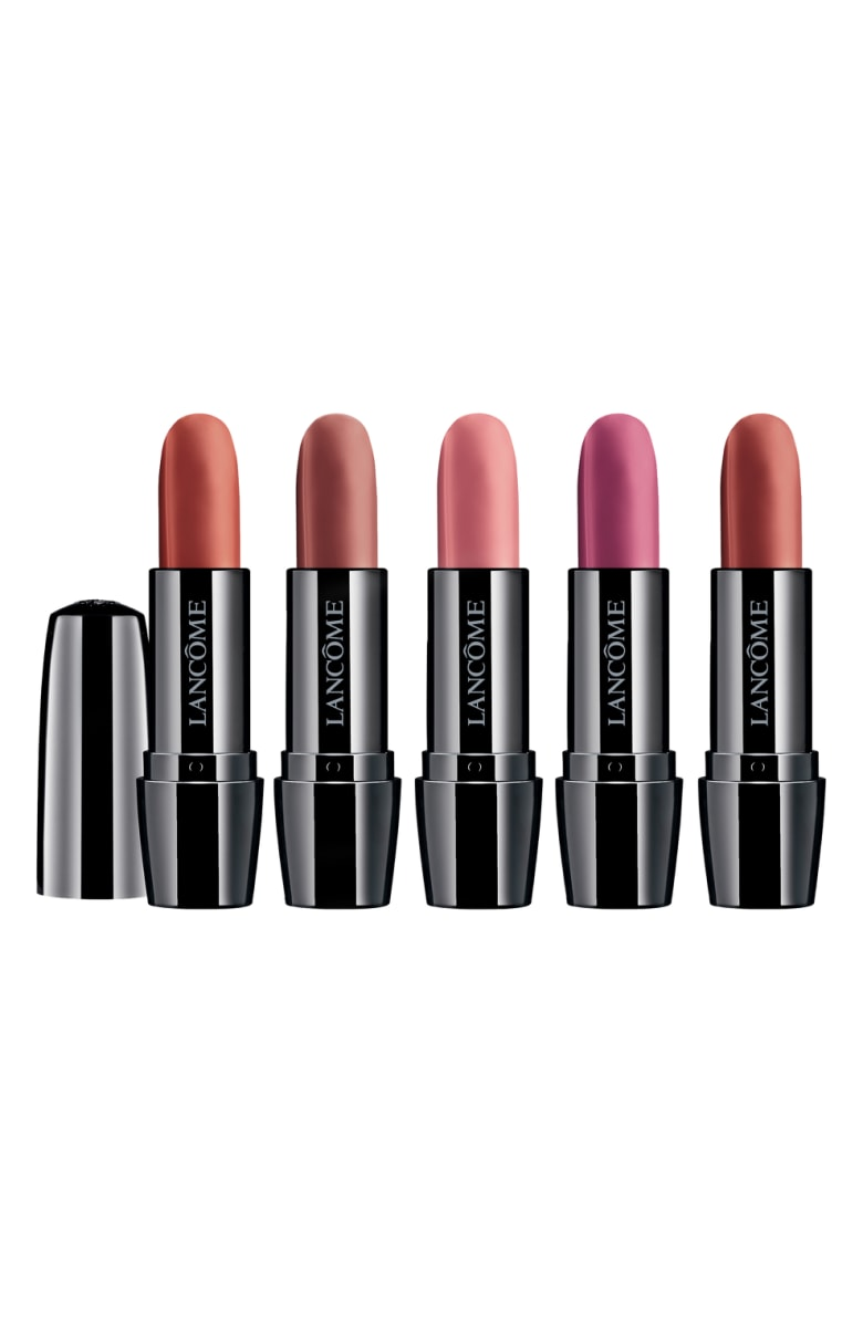 - This set doesn't even need an explanation. FIVE lipsticks for $38?! And Lancome makes great quality lipsticks. One lipstick retails for $23, so for not even the price of 2, you get 5!! Just amazing.