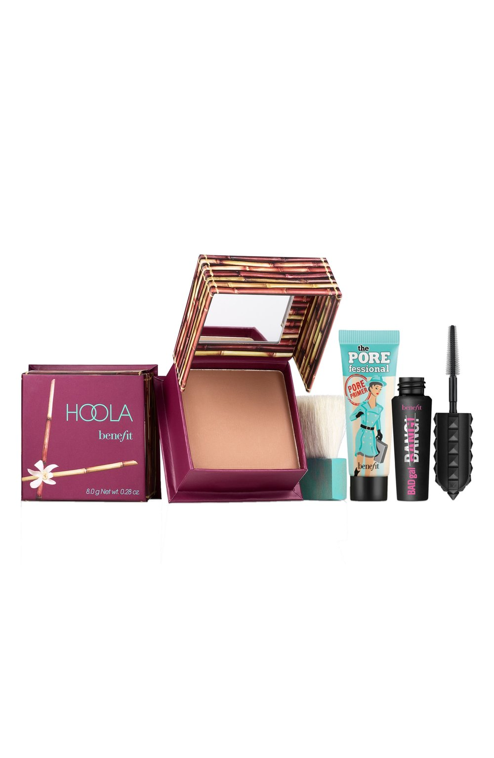 - Another set that you really can't go wrong with. The Hoola Bronzer is amazing and the POREfessional primer is loved by so many. Both the primer and the mascara are mini-sized, but the bronzer is full-sized and normally retails for $29. So, for just a few more bucks, you get two more products!