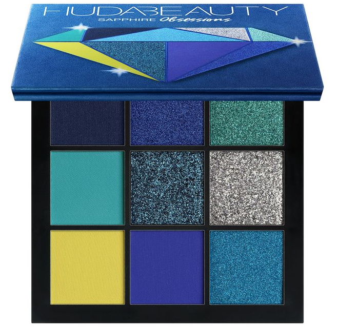 HUDA BEAUTY Obsessions Eyeshadow Palette – Precious Stones Collection sapphire