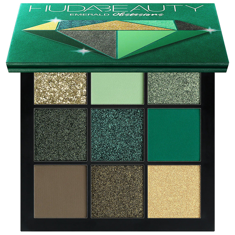 HUDA BEAUTY Obsessions Eyeshadow Palette – Precious Stones Collection emerald