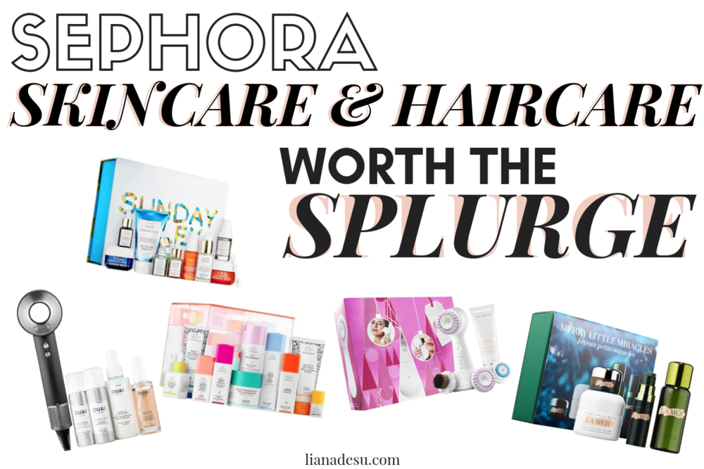 The cost of skincare and hair can sometimes seem crazy, right? Well, these skincare and haircare sets from Sephora are totally worth the splurge! Check out the top skincare/haircare sets you can get at Sephora! #skincare #haircare #luxurybeauty #sephora