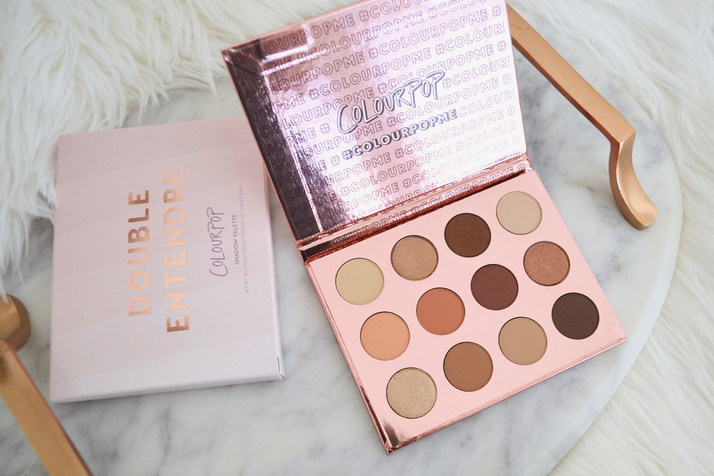 ColourPop Cosmetics Double Entendre Palette - Review and Swatches