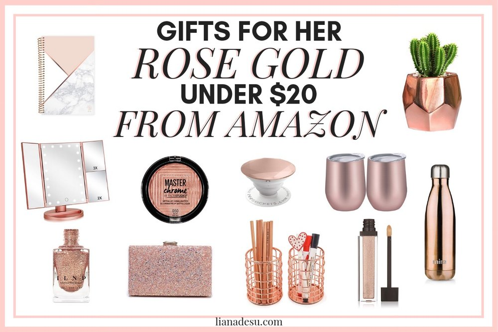 Still looking for Christmas gift ideas? Check out these great rose gold products on Amazon  sc 1 st  liana desu & Rose Gold Gifts for HER - Under $20 from Amazon u2014 liana desu