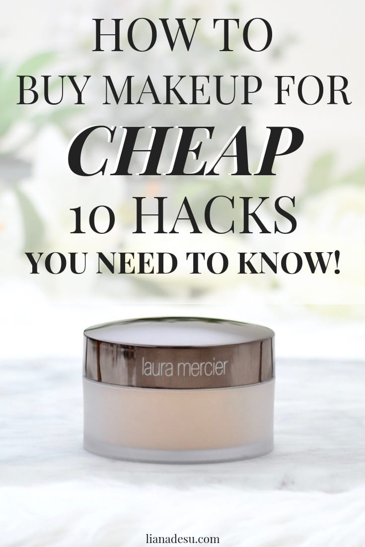Are you tired of spending so much money on makeup? I've discovered 10 different ways to save money on makeup so I never have to pay full price for any makeup. Today, I'll let you in on my secrets - 10 ways to save money on makeup you must know! #makeup #savingmoney #frugal