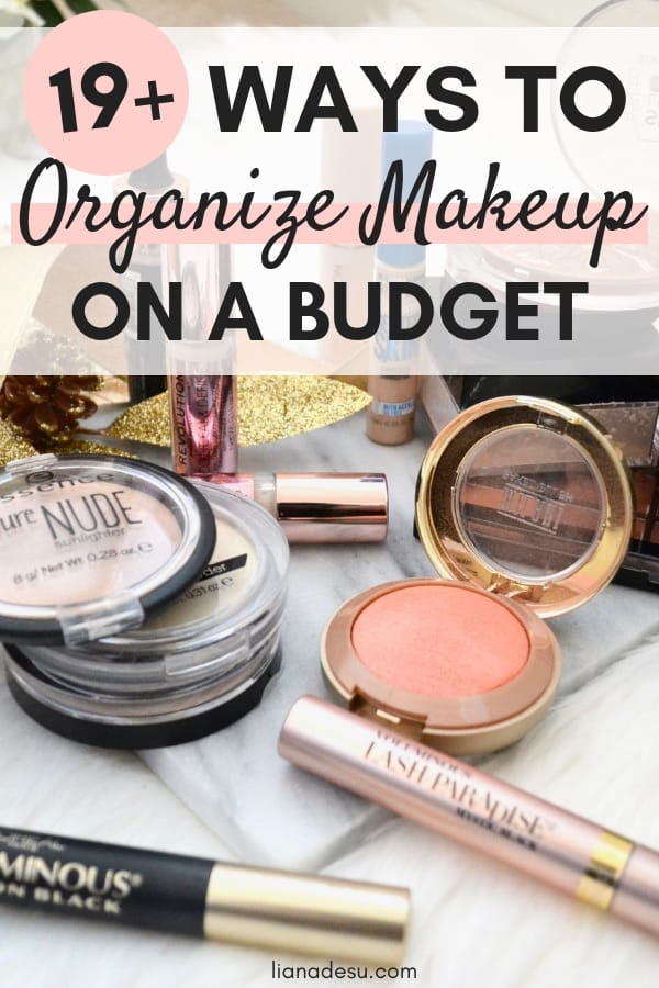 Do you have tons of makeup everywhere?! Let's start the new year off right by taking control of our makeup collection and getting organized! Check out some great affordable makeup storage solutions to get organized on a budget! #makeup #organization #declutter