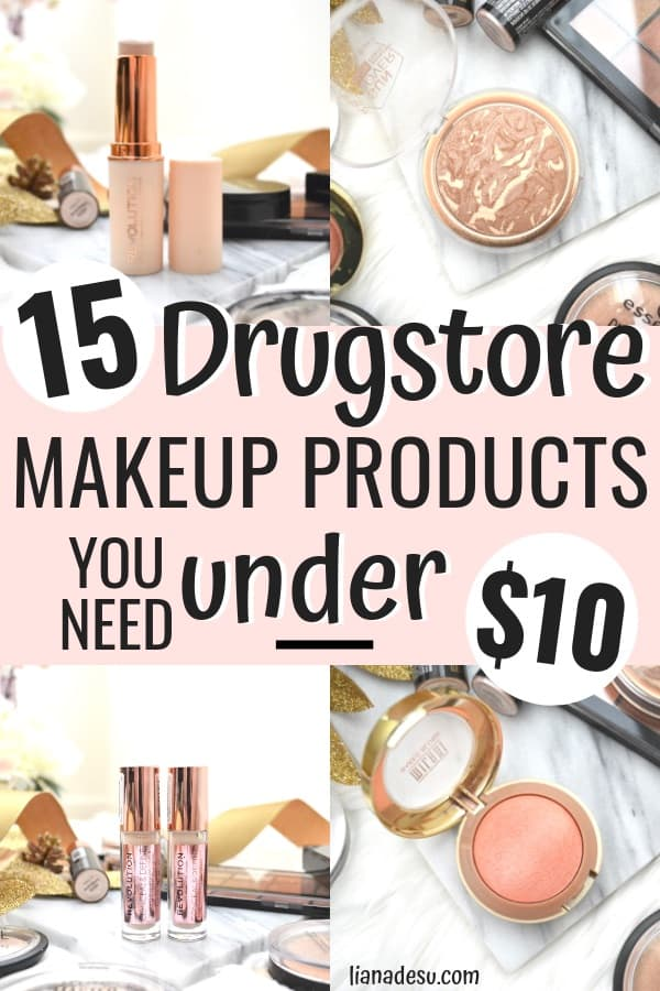 The best reasonably priced makeup under $10! I love all of these cheap makeup must haves under $10 from the best cheap makeup brands under $10! These makeup products are totally the best drugstore makeup must haves under $10.
