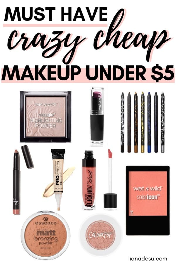Looking for awesome cheap makeup under $5? In this post, you'll find must-have crazy cheap makeup under $5. I know I love a good drugstore makeup deal! Check out the post for some drugstore makeup steals under $5!