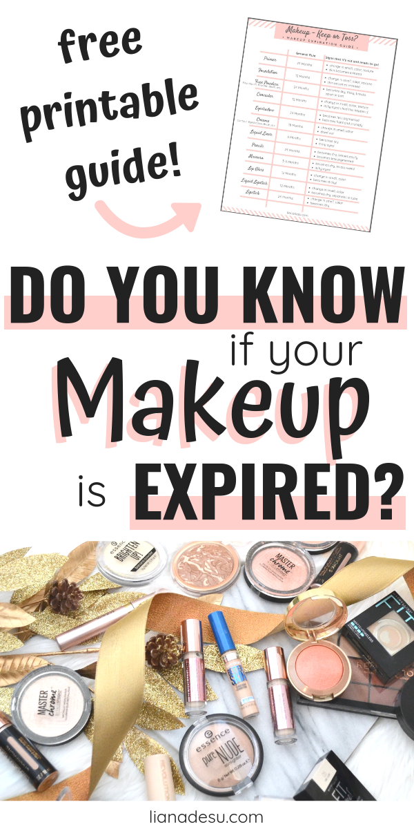 Do you know what happens if you use expired makeup? But, how do you know if makeup is expired? This is your must-read guide to makeup expirations dates! Find out how to know if makeup is expired, how to check expiry dates of cosmetics, and get a free makeup expiration dates printable guide!