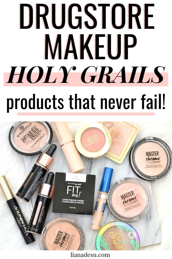I tried out a ton of drugstore makeup but there are always those that I keep coming back to. These drugstore makeup products are my absolute holy grails that never let me down! The best must have drugstore makeup that I use all the time. #drugstore #makeup #holygrails
