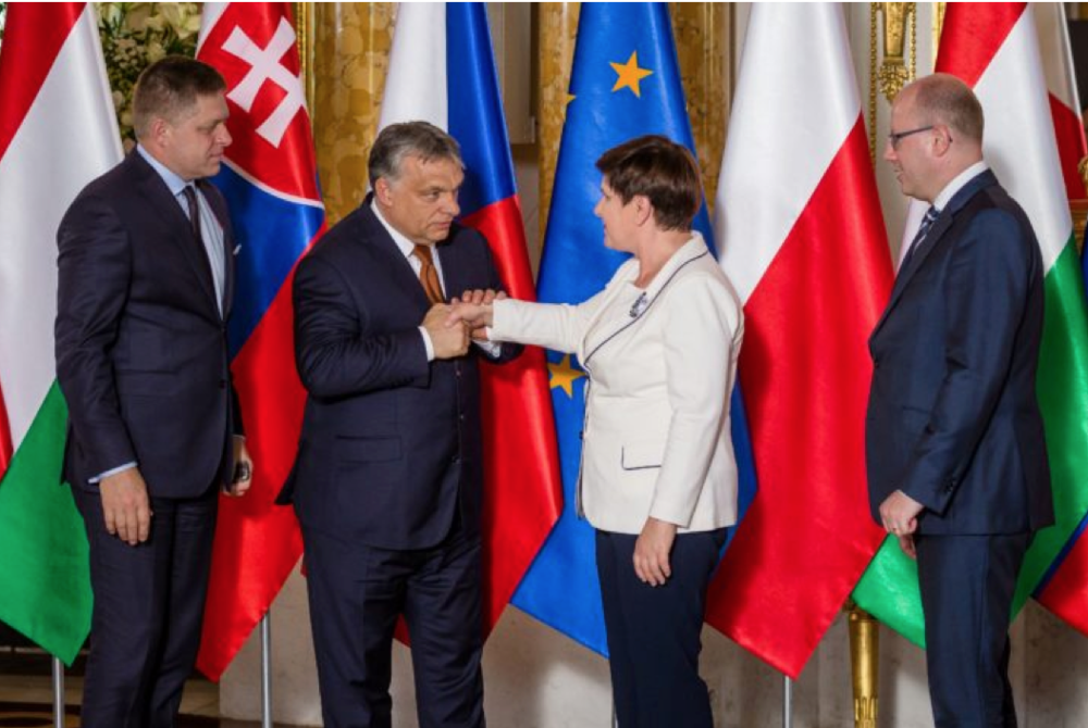 Prime Ministers of the Visegrad Group (Source: Wojtek Radwanski/AFP via Getty Images)