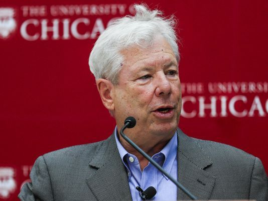 Richard Thaler answers questions at a reception and news conference after winning the Sveriges Riksbank Prize in Economic Sciences in Memory of Alfred Nobel 2017, at the University of Chicago, in Chicago, Illinois, on Oct. 9, 2017. (Photo: TANNEN MAURY, EPA-EFE)