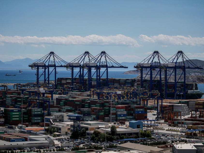 The port of Piraeus (Credit: Angelos Tzortzinis for The New York Times)