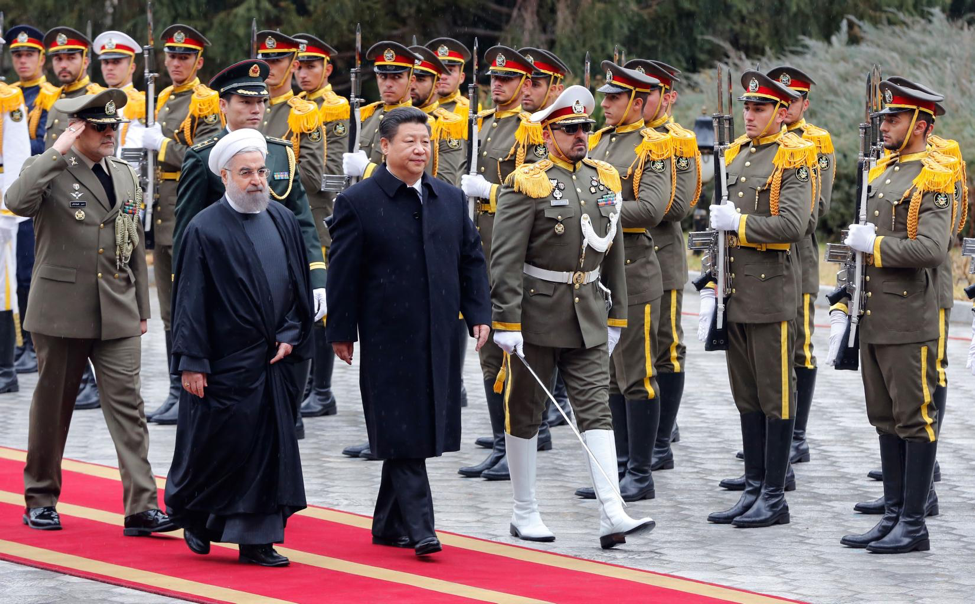President Xi meets President Rouhani in Tehran.   Photo Courtesy: STR/AFP/Getty Images (January 2016)