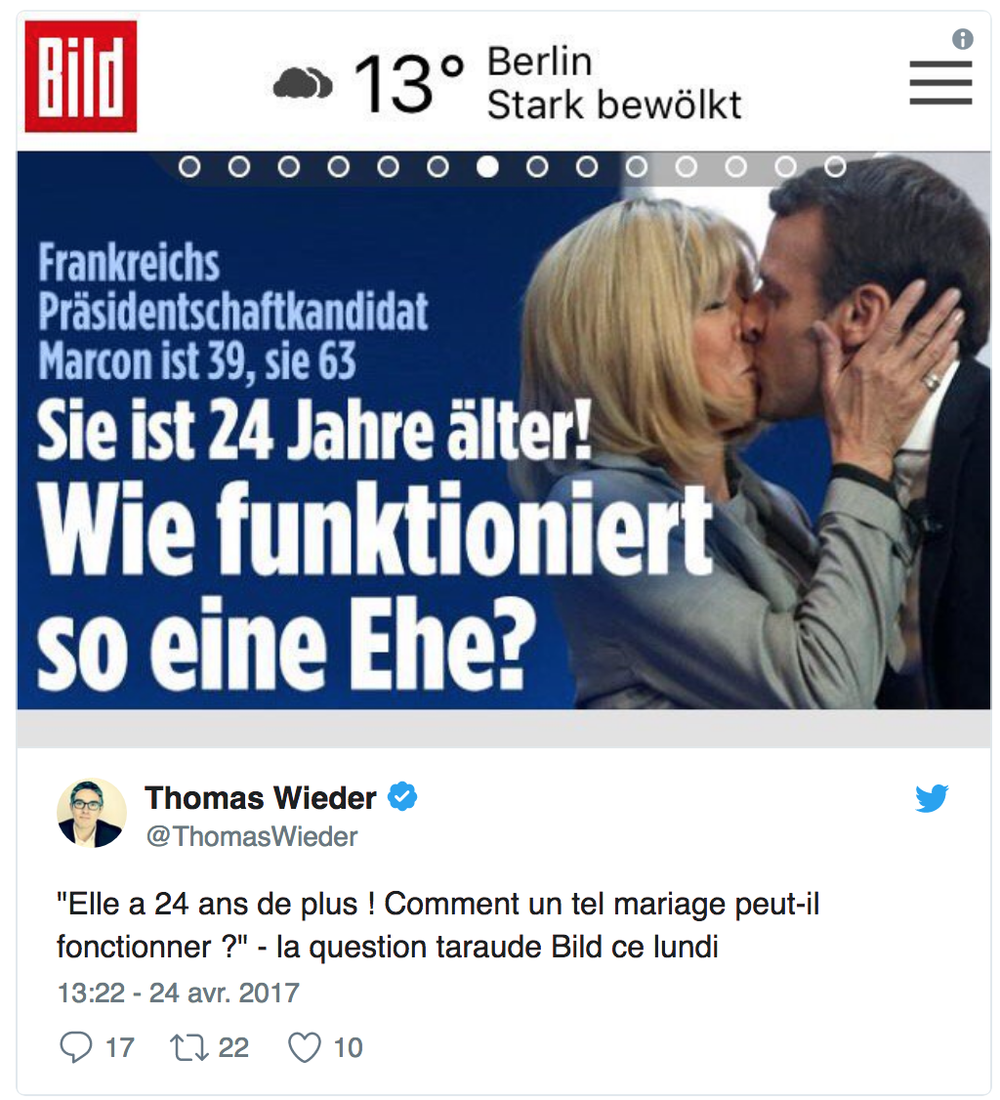 "German newspaper, Frankfurter Allgemeine Zeitung asks ""How does this marriage work"" as cover. Credit : Twitter"